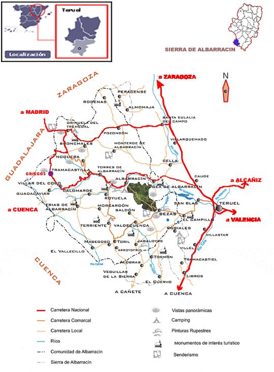 Mapa De Teruel Capital.Mapa Sierra Web